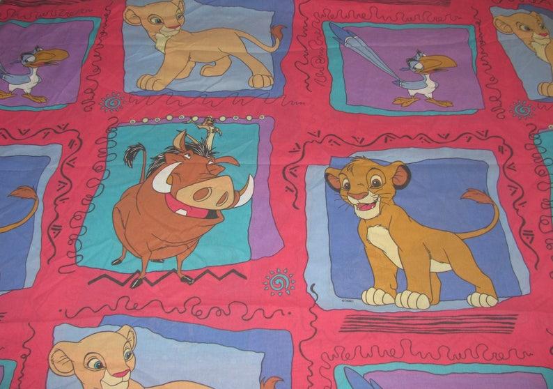Vintage Disney Lion King Twin Flat Sheet Young Simba Nala Etsy