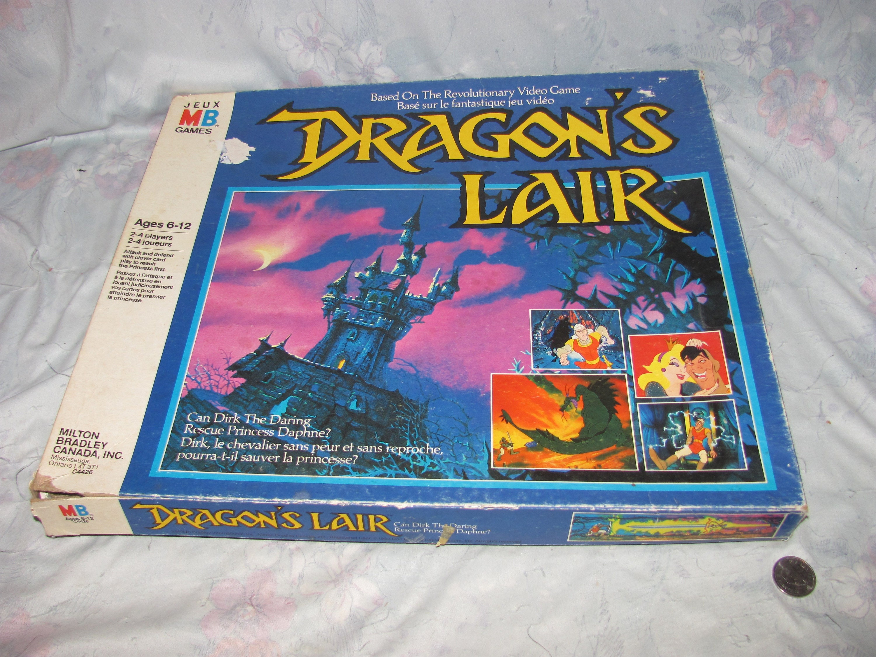 Vintage 1983 Dragon's Lair Board Game Complete, Video Game