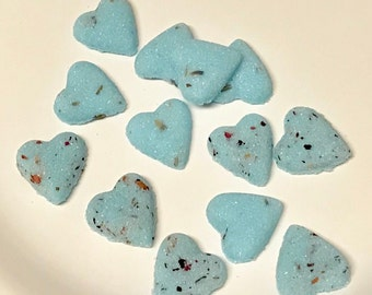 Rose and Lavender Sugar Cube Hearts any color for Tea Party's | Weddings | Baby Showers and Party's