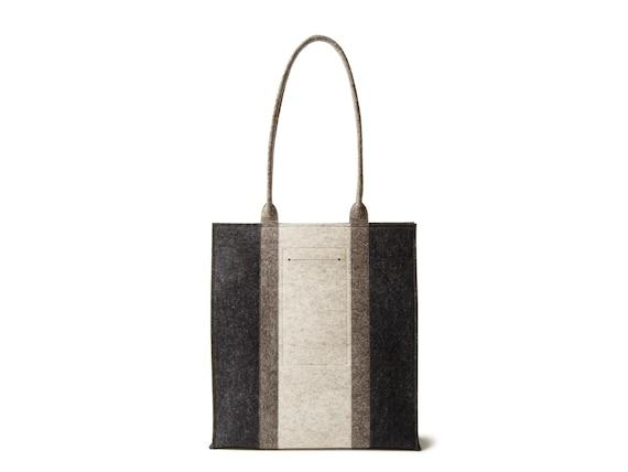 Wool Felt RECTANGULAR TOTE BAG / three-tone tote bag / women's bag / felt shoulder bag / wool felt tote/ grey bag / made in Italy