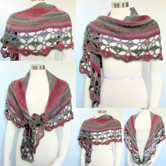 Pattern Only Amazing Rainbow Crescent Shawl Pattern Crochet Etsy