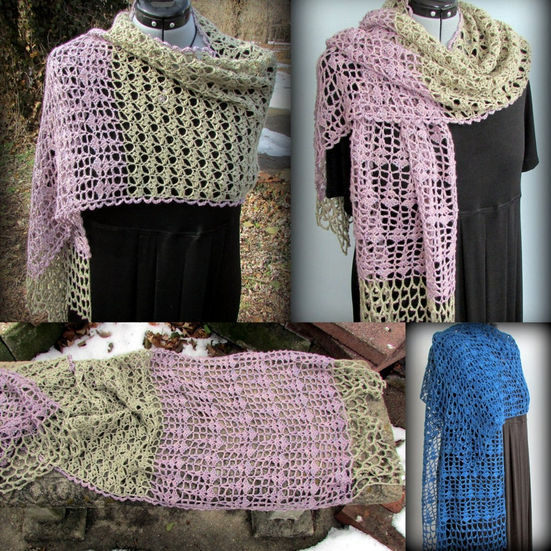 Pattern only  Sage Rosemary and Thyme Shawl pattern crochet image 0