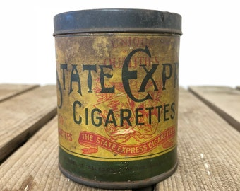 Edwardian era cigarette tin, State Express brand