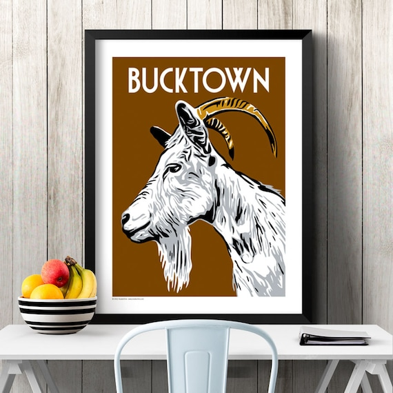 Bucktown Chicago Neighborhood Poster Etsy