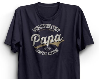 a654487f8 World's Greatest Papa T-shirt Father's Day Shirt for Dad Birthday Gift Fathers  Day Gift