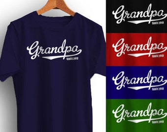 dd78eea7ee8 GRANDPA T-Shirt Fathers Day Christmas Gift Personalized with year Father s  Many Colors S-XL-4XL