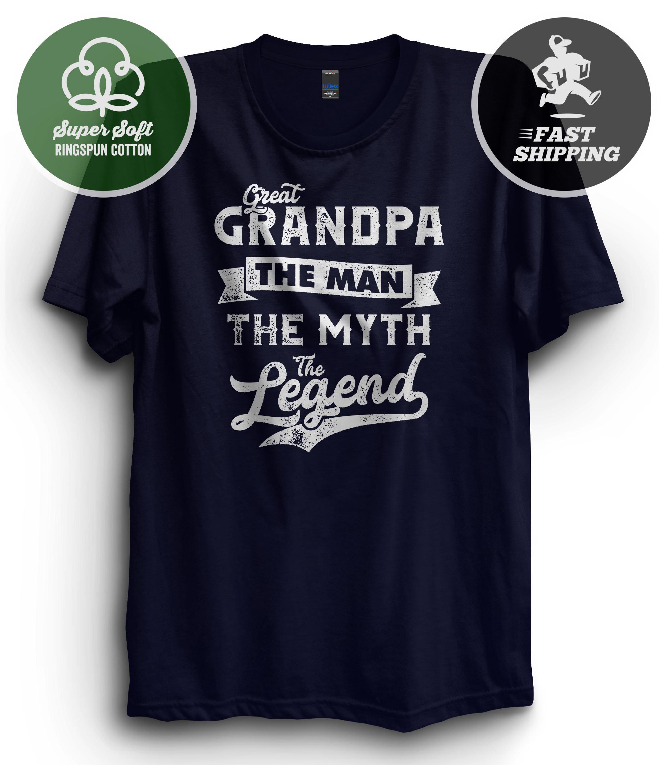 Grandfather Fathers Day Bampi Man Myth Legend Tshirt Unisex Grandad