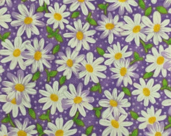 PURPLE Dragonfly Floral cotton Fabric Traditions By The Yard