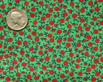 Cotton Fabric  Olive Green Calico Fabric  Cotton Calico Fabric  Olive Green Floral Fabric  Olive Green Cotton Fabric  Benartex