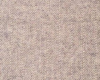 Wool Fabric / Herringbone Wool / Blue Herringbone Wool / Blue Wool Fabric / Blue and Beige Wool Fabric / Blue and Tan Wool Fabric / Wool