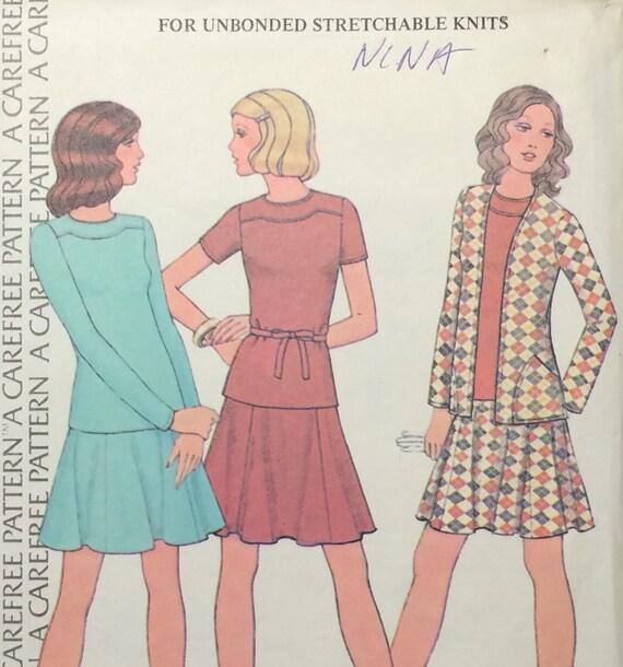 Skirt Pattern Knit Skirt Pattern Knit Jacket Pattern Etsy