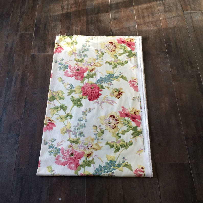 Cotton Fabric Floral Home Decor Original Screen