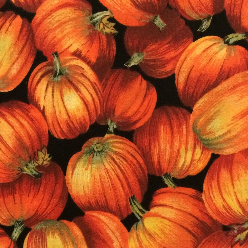 Fall Fabric  Pumpkin Fabric  Fall Cotton Fabric  Harvest Fabric  Pumpkin Quilting Fabric  Orange Pumpkin Fabric For Sale  Pumpkin