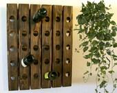 Wood Wine Rack RUSH ORDER Large Walnut Finish 15 20 25 or 30 Bottle Storage