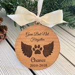 Personalized Dog Memorial Ornament, Christmas Gift, Custom name ornament, pets ornament, Pets memorial, Holiday gifts, Dog Cat lover