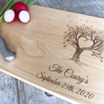 Personalized Cutting Board, Custom Cutting Board, Wedding Gift, Engraved Board, Mother's day Gift, Anniversary Gift, Engagement, Couple