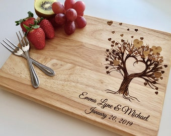 Personalized Cutting Board, Custom Cutting Board, Personalized Wedding Gift, Engraved Board, Mother's day Gift, Anniversary Gift, Engagement