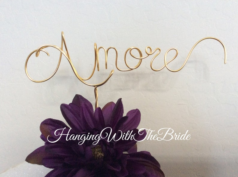 Custom Cake Topper Wedding Cake Topper About time Wire Cake image 0