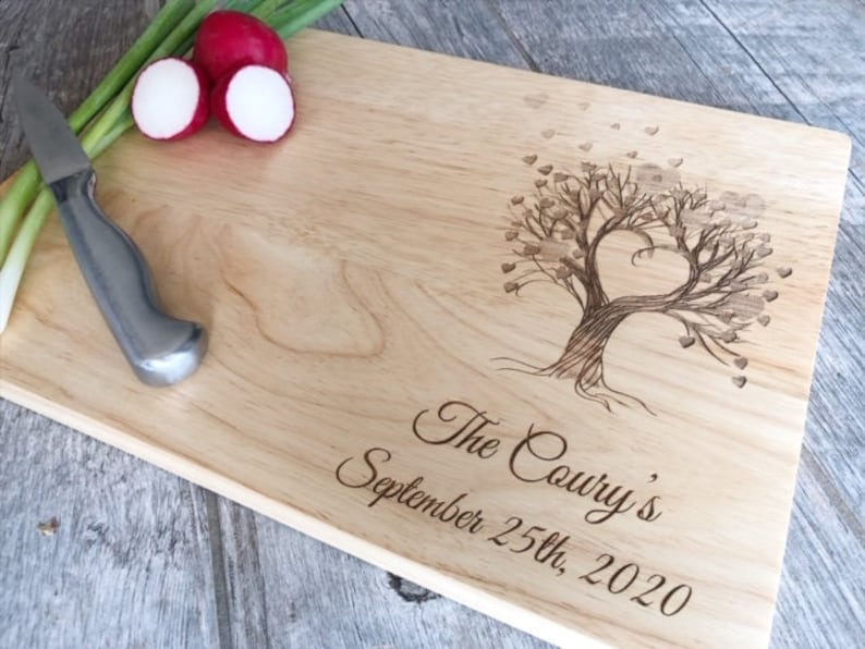 Personalized Cutting Board Custom Cutting Board Wedding image 0