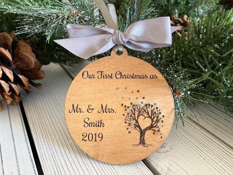 Personalized Couple Ornament Christmas Gift Custom name image 0