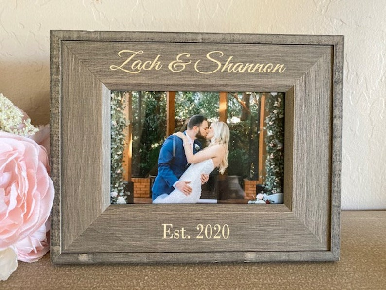 Personalized Picture Frame Custom Picture Frame Engagement image 0