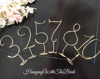 Wire numbers - rustic wedding - Guest table numbers - wedding table numbers - wedding decor - table numbers