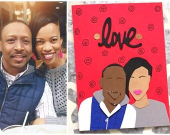 Custom Card Love Personalized Handmade Anniversary Birthday