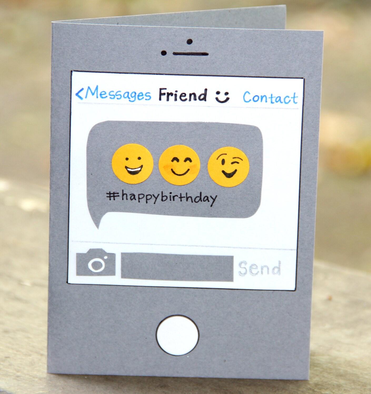 Birthday Card Birthday Text Emoji