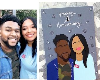 Custom Anniversary Card, Happy Anniversary, Wedding Anniversary Card