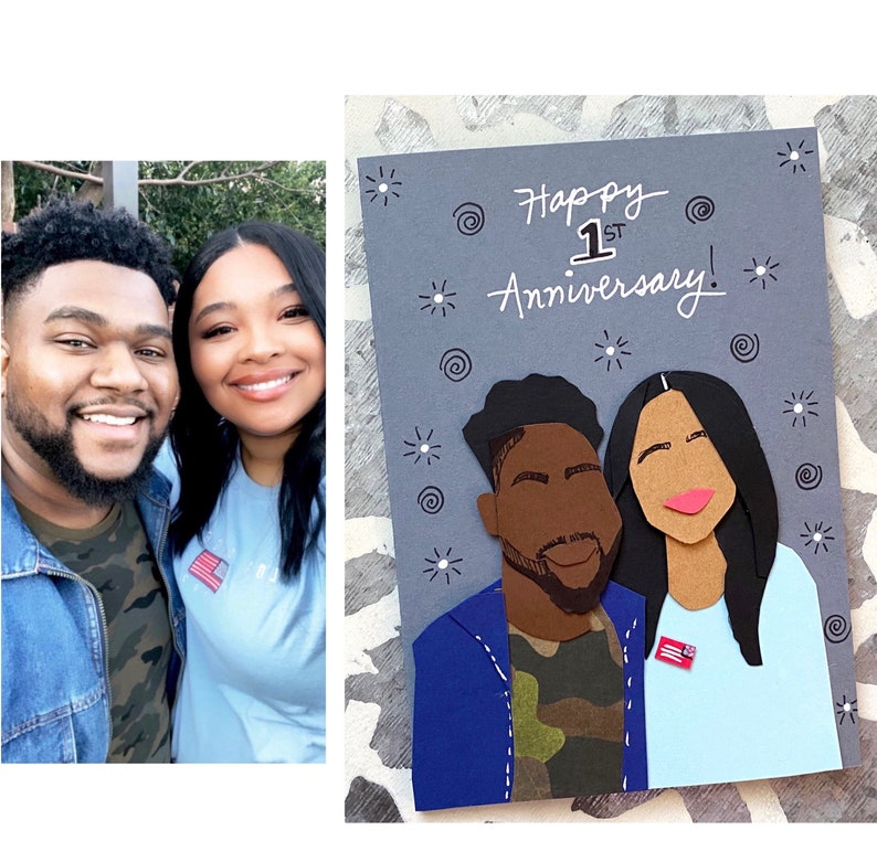Custom Anniversary Card Happy Anniversary Wedding image 0
