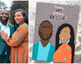 Custom Birthday Card- Personalized Birthday Card, Happy Birthday, Birthday Gift