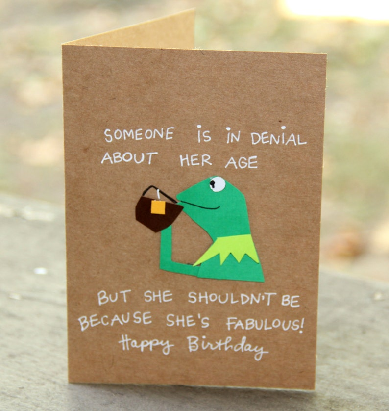 Birthday Card - Kermit the Frog