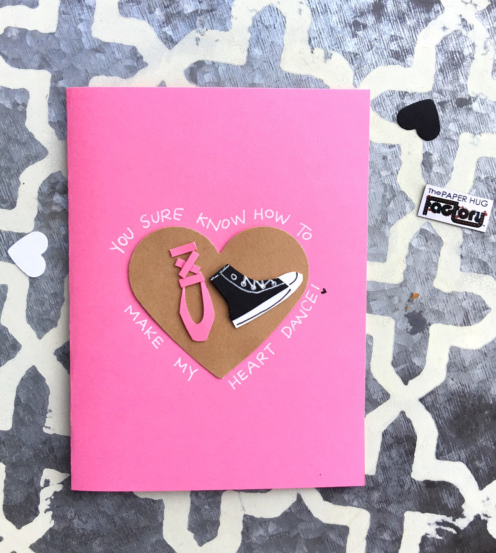 valentine's day card for dancers, lovers and friends- ballet shoe, hip hop dance, converse shoe