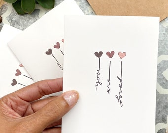 3-pack - You are Loved Card, I Love You Card, Card for Friend, Empathy Card, Thinking of You Card, From the Heart