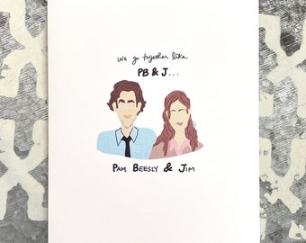The Office, The Office Card, Pam and Jim, Love Card, Valentine's Day Card