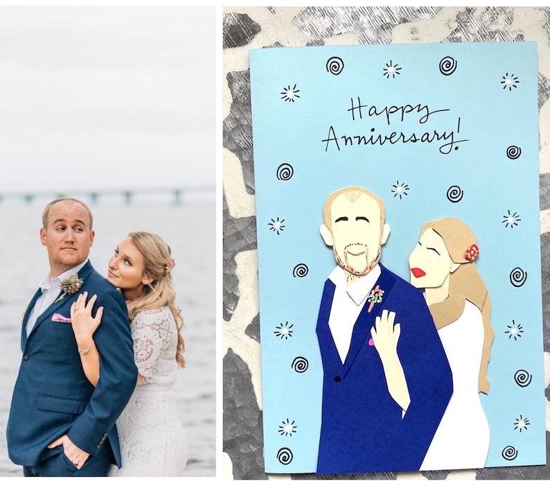 Custom Anniversary Card Happy Anniversary Wedding image 3