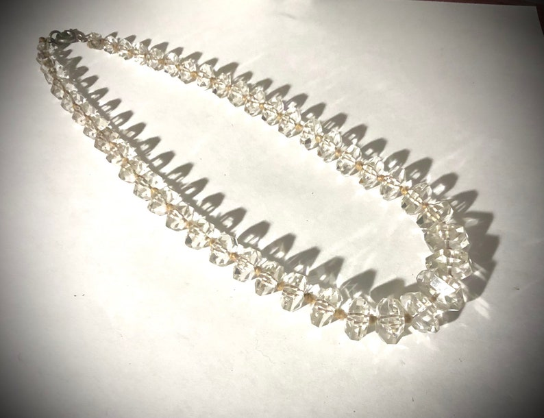 Germany Vintage Crystal Necklace hand knotted