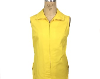 vintage 1960's yellow romper / Stag-Prest by White Stag / cotton blend / onesie jumper / spring summer / women's vintage romper / size large