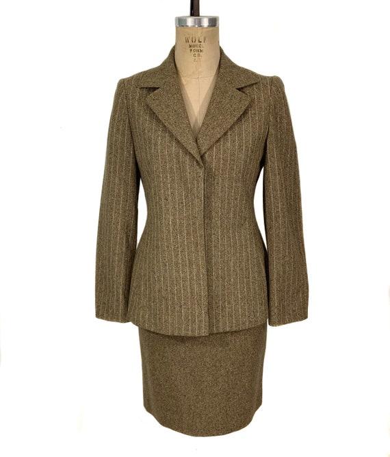 vintage 1990's KENZO skirt suit / tweed suit skirt