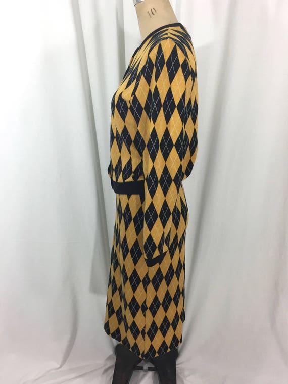 vintage 1980's NORMA KAMALI knit skirt set / blac… - image 5