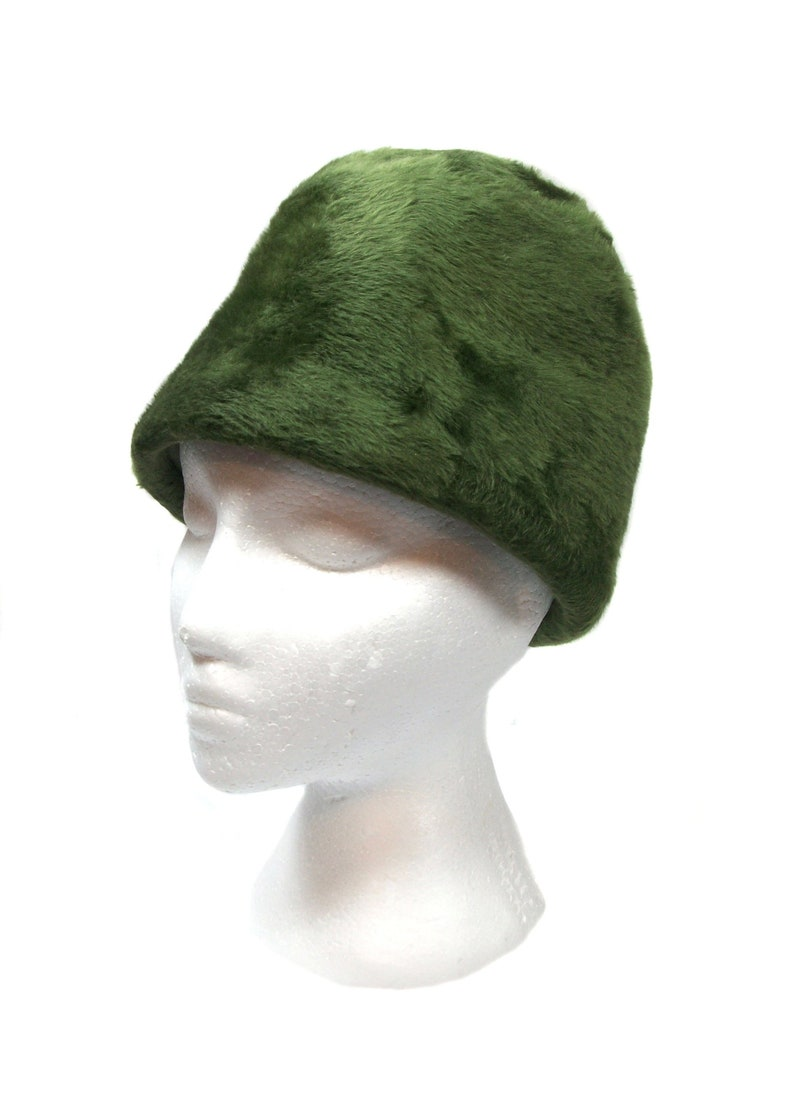 5c215d258be Vintage 1960 s MISS DIOR furry green hat   Christian Dior