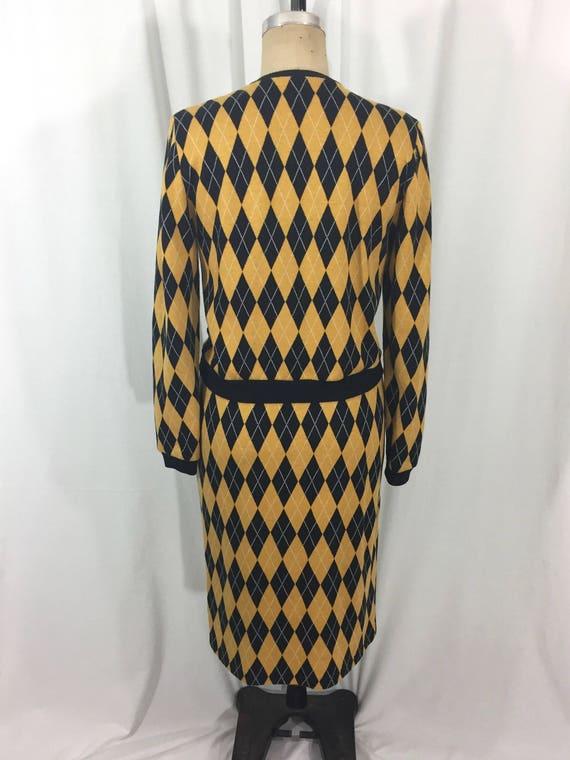 vintage 1980's NORMA KAMALI knit skirt set / blac… - image 6