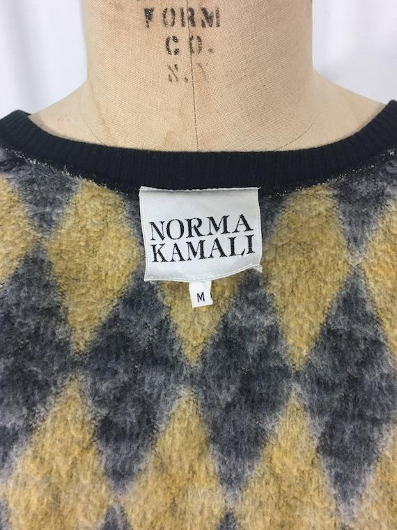vintage 1980's NORMA KAMALI knit skirt set / blac… - image 7
