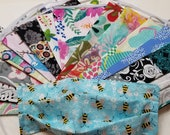 Face Mask Reversible Fun 40 Assorted Florals Whimsical Prints 2 Ply Cotton Adult Made To Order 3 - 5 Business Days See Item Details