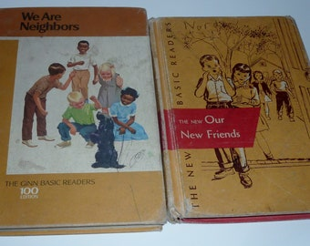 vintage basic readers Our Friends and We are Neighbors
