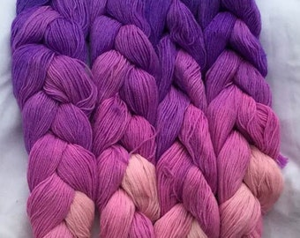SPECIAL! Lilac Fingering Weight - repeating gradient or warp