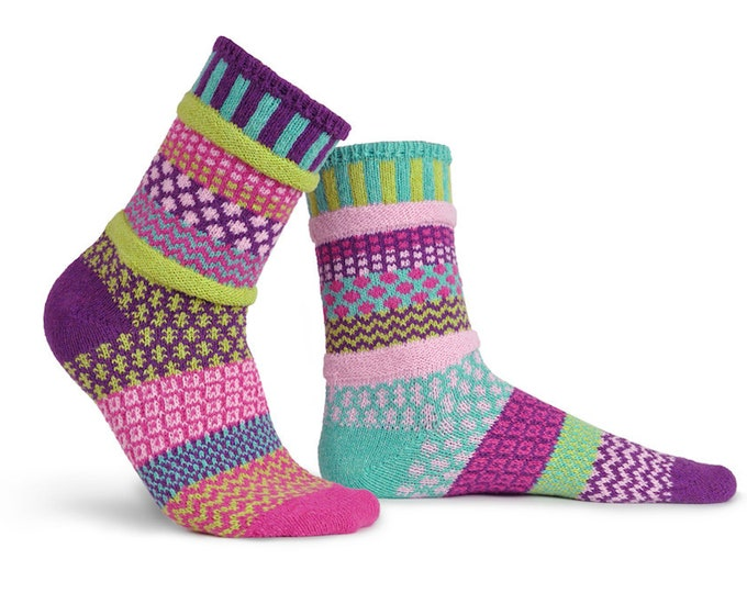 Solmate Socks - Dahlia Crew - Adult SMALL