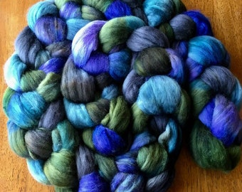 PREORDER: 100% Falkland Island Fine Wool Top / Roving 1/2 POUND Nightfall