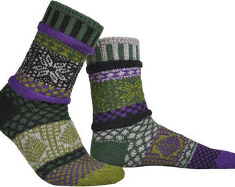 Solmate Socks - Balsam Crew - Adult SMALL
