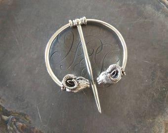 Ram Pennacular Shawl Pin